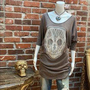 GUC Delirious Sugar Skull Sweater Dress / Tunic